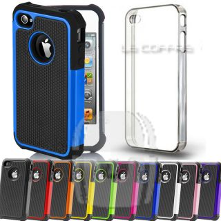 Armor Heavy Shock Proof or and Clear Transparent Hard Cover Case for iPhone 4 4S