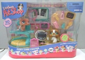Hasbro Littlest Pet Shop Cozy Care Center 334 Ferret 335 Puppy Dog 336 Kitty Cat