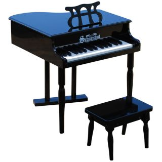 Mini Baby Grand Piano Classic 30 Key Black from Brookstone