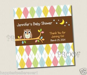 Printable Candy Bar Wrappers Labels Bar Whoo Loves You Owl Baby Shower Birthday