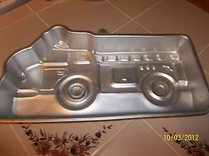 Wilton Cake Pan 1991 Little Fire Truck 2105 9110 Printable Instructions EXC