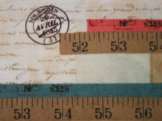 Garden Tales Rulers Measuring Tape Windham Fabric Yard