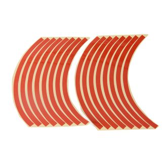 10'' 12''Car Motorcycle Wheel Rim Stripe Tape Reflective Stickers Decal Orange