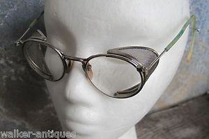 Vintage AO Bausch Lomb Ful Vue Safety Goggles Eye Glasses Mesh Sides Steampunk