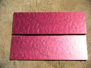 "Knife Scales Metal Flake Red Pearl 3 16"" Blade Blank Handle Micarta"