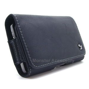Leather 8HBK Universal Large Pouch Belt Clip Case Holster for Motorola Phones