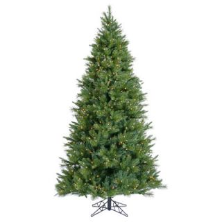 Vickerman Butte Mixed Pine 7.5 Green Artificial Christmas Tree with 850 Clear Lights with Stand