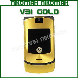 Motorola RAZR V3i Gold Unlocked Cellular Phone