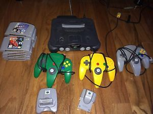 Nintendo 64 Charcoal Grey Console NTSC Games Controllers Accessories