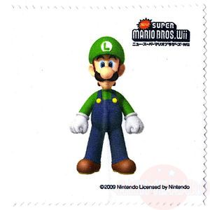 Luigi Microfiber Cloth New Super Mario Bros Wii Screen Cleaner Wiper 3DS Epoch