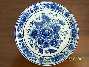 Vintage Royal Delft Holland Souvenir Wall Hanging Plate
