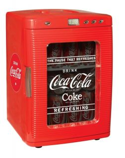 Coca Cola Coke Can Office Home Room Small Mini Fridge Refrigerator Cooler KWC25