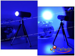 Fishing Bait Light Flashlight Torch Tripod Night Lamp Handheld Blue LED Black