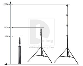 Heavy Duty Photo Video Lighting Aluminum Alloy Light Stand Tripod