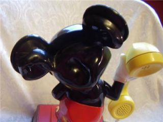 Vintage 1970's American Walt Disney Mickey Mouse Rotary Telephone Phone Works