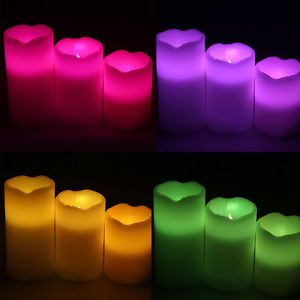 Flameless RGB LED Candle Light Paraffin Wax Remote Color Changing with Timer