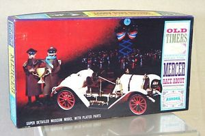 Aurora 572 Old Timers 1915 Mercer Raceabout Plastic Model Kit Mint Boxed My