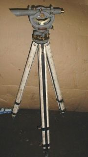 Vintage David White Co Surveying Transit 3000 in Wooden Box Wooden Tripods