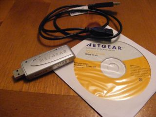 Netgear Wireless USB Adapter WG111 Version 3 Includes CD ROM and Free Cable