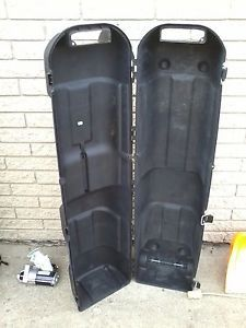 Golf Guard Hard Shell Golf Bag Travel Case Latchs Wheels Handles and Lockable