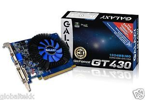 Galaxy Tech NVIDIA GeForce GT 430 1GB Graphics Video Card 43GGS8HX3SPZ