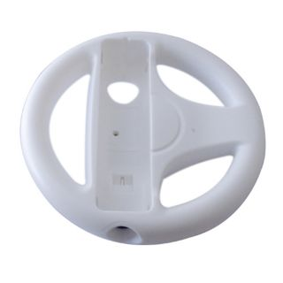 White Steering Wheel for Nintendo Wii Mario Kart Racing Game Remote Controller
