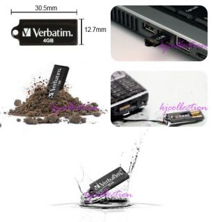 Verbatim Micro 32GB 32G USB Flash Pen Drive Disk Stick Memory Wallet Store Black