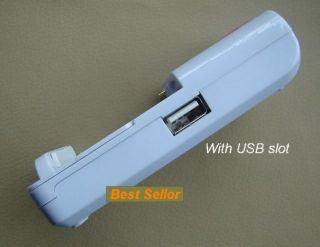 Universal Battery Charger with USB Port for Cell Phone Mobile Digital Camera PSP
