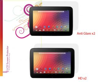 rooCASE 2X Anti Glare 2X HD Screen Protectors for Google Nexus 10