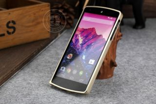 Gold Luxury Metal Aluminum Bumper Frame Edge Case Cover for LG Google Nexus 5