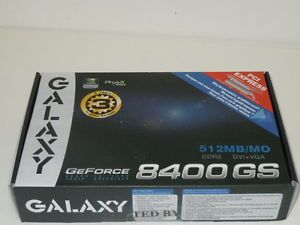 VGA Galaxy Tech NVIDIA GeForce 8400 GS 512MB Graphics Video Card BB84GFE6DC2EMM 0845735000587