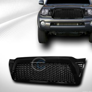 Black Sport VIP Mesh Front Hood Bumper Grill Grille ABS 2005 2011 Toyota Tacoma