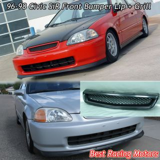 96 98 Civic 2dr Sir Front Bumper Lip Grill ABS