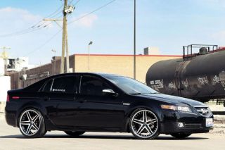 "20"" Acura TL Rohana RC5 Matte Black Concave Wheels Rims"