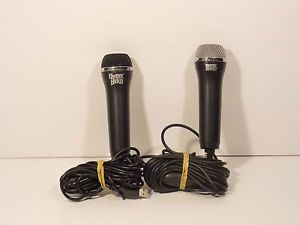 Two 2 Rock Band Guitar Hero USB Cable Microphones for Xbox 360 PS2 PS3 Wii Mics