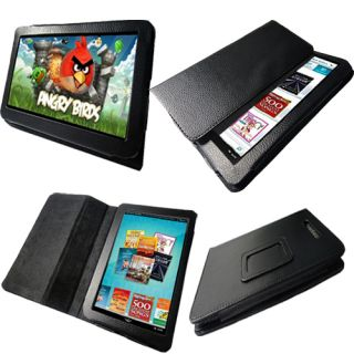 PU Leather Folio Stand Case Cover Holder for Barnes Noble Nook Color Tablet 7""