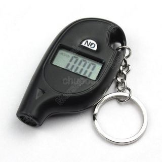 Keychain LCD Digital Tire Tyre Air Pressure Gauge for Car Auto Motorcycle