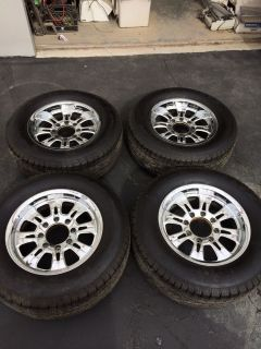 "Ford Excursion Chrome Custom 18"" Rims and 4 Michelin Tires 285 60 R 18"