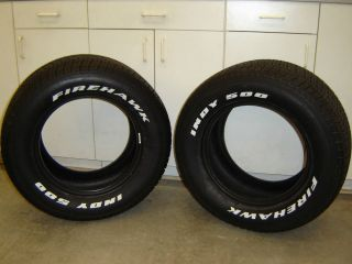 295 50 15 Firestone Firehawk Indy 500 Tires for Hot Rods Chevy Ford Mopar Dodge