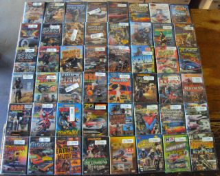 60 DVDs Cars Motorcycles Racing Crashes Motocross Hot Rods Wholesale Lot