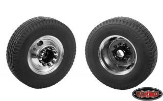 RC4WD Diesel Front Semi Truck Stamped Beadlock Wheels Chrome 2 RC4Z W0013