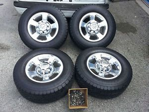 "2010 Dodge RAM Truck 2500 3500 2011 17"" Polished Wheels Tires Factory"
