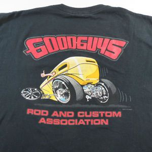 Goodguys Rod and Custom Hot Rods Racing Garage Tee T Shirt Sz Mens XL