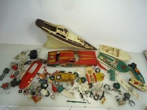 Junk Yard Lot of Vintage 1960's Car Models Drag Boat Parts Hot Rods Drag Cars