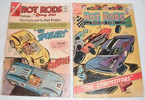 Lot of 2 Hot Rods and Racing Cars Comics Clint Curtis Road Knights 1966 1969