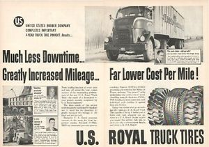 1955 Cooper Jarrett Motor Freight Co in U s Royal Truck Tires Ad 2 Other Cmpys