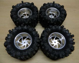 RC4WD RC Monster Truck Tires and SPI Racing Aluminum Wheels 14mm Hex HPI Traxxas
