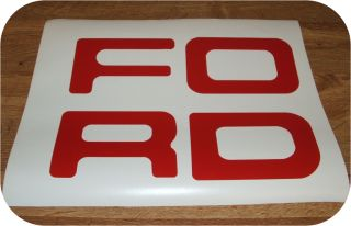 Red 87 93 Ford Pickup Truck Fleetside Bronco Tailgate Vinyl Letters Decal Rear