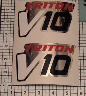 Triton V10 Decals Pair of Chrome Fender Truck Decals