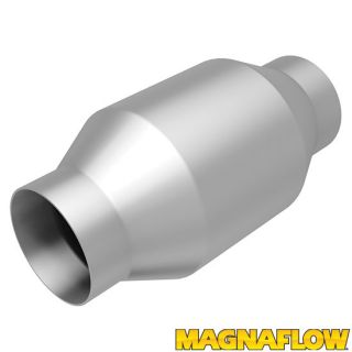 "Magnaflow 53956 Universal High Flow Catalytic Converter Round Spun 2 5"" in Out"